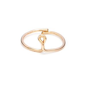Bague Lettre Fil Gold Filled Rose - Atelier Paulin