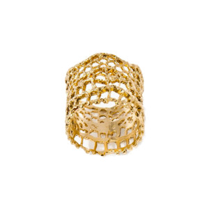 Bague Dentelle Or rose ou jaune - Aurélie Bidermann||Or jaune
