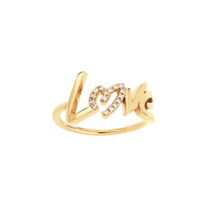 Bague Love O Diamants Or Jaune