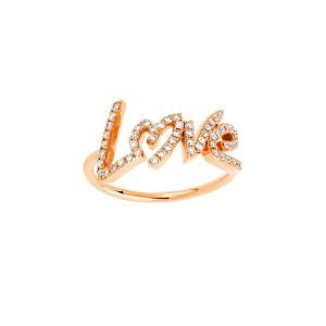Bague Love Diamants Or Rose