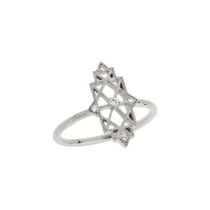 Bague Mini Nour Diamants Or Blanc