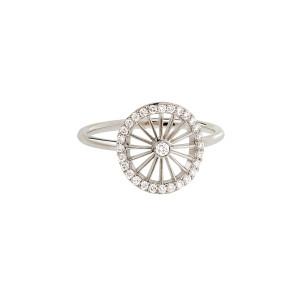Bague Mini-Cheyenne Ronde Diamants Or Blanc