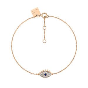 Bracelet Ajna Saphir Diamants Or Rose