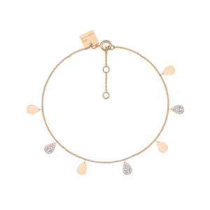 Bracelet Bliss Diamants Or Rose