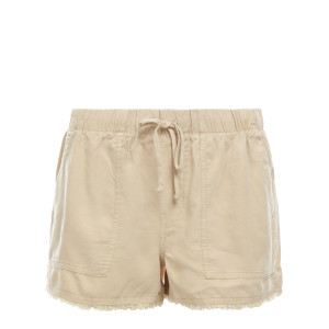 Short Frayed Pocket Short Soft Beige