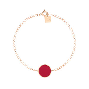 Bracelet Ever Disc Or Rose Corail