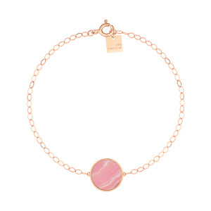 Bracelet Ever Disc Rhodocrosite Or Rose