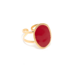 Bague Lumy Ovale Rouge