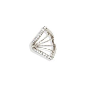 Bijou d'oreille Cheyenne Losange Diamants Or Blanc (vendu à l'unité)