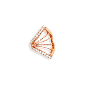 Bijou d'oreille Cheyenne Losange Diamants Or Rose (vendu à l'unité)