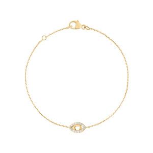 Bracelet Iris Diamants Or Jaune