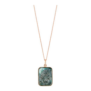 Collier Bliss Buddha Black Mop Or Rose