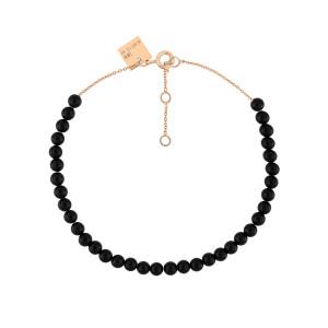 Bracelet Maria Mini Or Rose Onyx