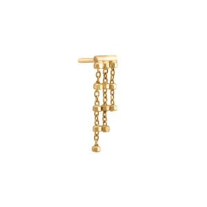 Boucle d'oreille Diamantée Triple Chaîne (vendue à l'unité)