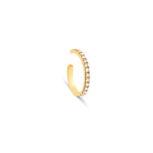 Bijou d'oreille Hash Diamants Or Jaune (vendu à l'unité)