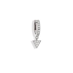 Mini Créole Alba Diamants Or Blanc (vendue à l'unité)