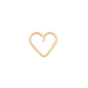 Boucle d'oreille Toi x Moi Cœur Gold Filled (vendue àl'unité)