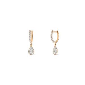 Boucles d'oreilles Bliss Diamants Or Rose