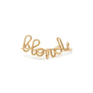 ATELIER PAULIN - Boucle d'oreille Blonde Gold Filled (vendue à l'unité)