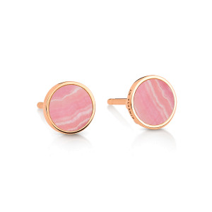 Boucles d'oreilles Ever Disc Rhodocrosite Or Rose