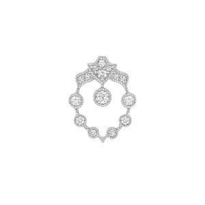 Boucle d'oreille Bouton Rêveuse Or Blanc (vendue à l'unité)