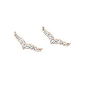 Boucles d'oreilles Wise Or Rose Diamants