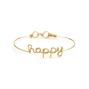 Bracelet Fil Happy Gold Filled - ATELIER PAULIN
