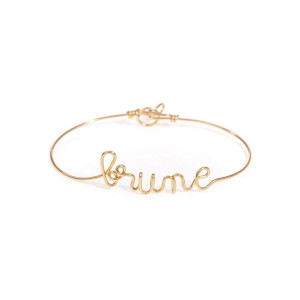 Bracelet Fil Brune Gold Filled