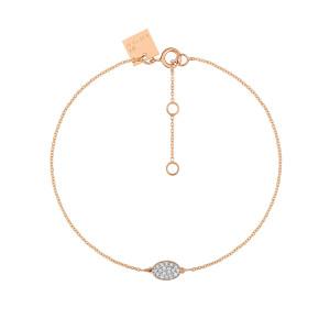 Bracelet Sequin Or Rose Diamants