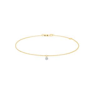 Bracelet 360° Diamant Brillant 0,07 Or Jaune