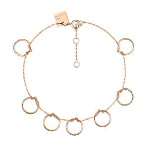 Bracelet Tiny 7 Cercles Or Rose