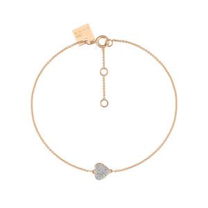 Bracelet Tiny Diams Cœur Or Rose Diamants