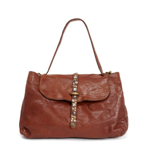 Sac Handbag Cow Clous Cognac