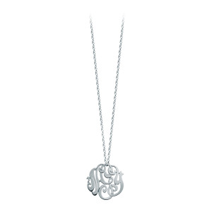 Collier Monogramme NGY Baby Or Blanc