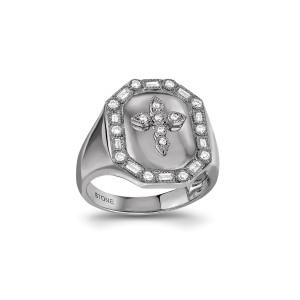 Chevalière Céleste Diamants Or Noir