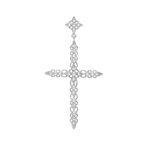 Pendentif Céleste Diamants GM Or Blanc