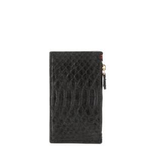 Porte-cartes Héléna Python Noir