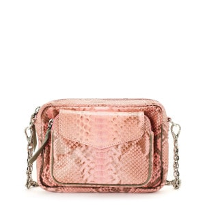 Sac Charly Python Rose Poudré