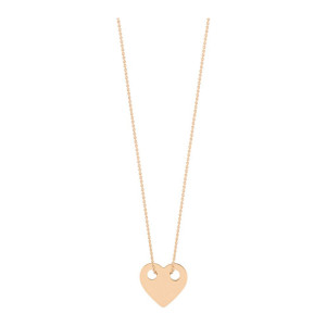 Collier Mini Coeur Or Rose
