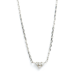 Collier Mini Cœur 18K Diams blancs - FEIDT
