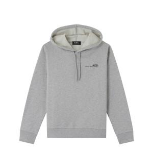 Sweatshirt Hoodie Item Coton Gris Clair Chiné