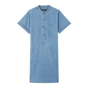 Robe Temple Denim Bleu Clair