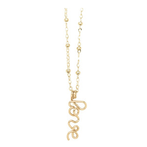 Collier Pendentif Love Gold Filled