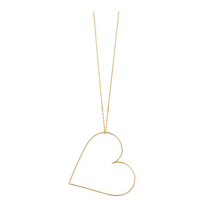 Collier Mini Cœur Nude Gold Filled