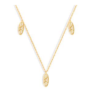 Collier Cheyenne Mini-Ovale Diamants Or Jaune