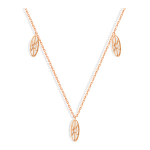 Collier Cheyenne Mini-Ovale Diamants Or Rose