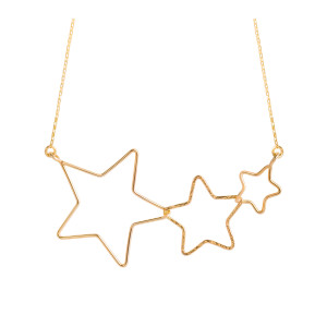 Collier Stardust Étoiles Gold Filled