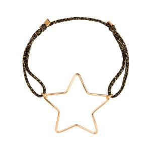 Bracelet Cordon Lurex Stardust Maxi Étoile Gold Filled
