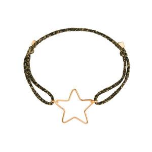 Bracelet Cordon Lurex Stardust Petit Star Gold Filled 14K