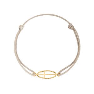 Bracelet Divine Iris GM Croix Or Jaune
